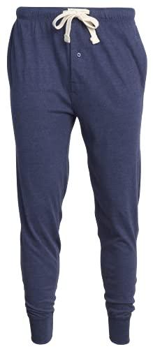 Lucky Brand Men's Knit Jogger Sleep Lounge Pants, Navy, Medium