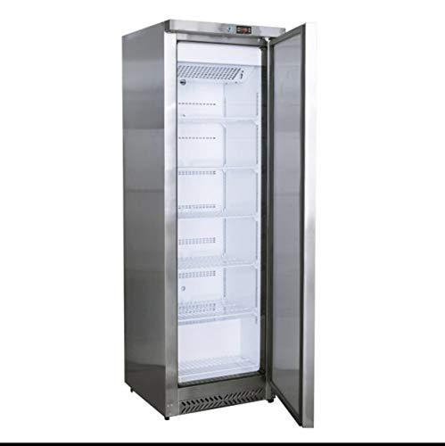 Edelstahl Tiefkühlschrank 400 Liter Kühlschrank Gefrierschrank Kühltruhe Gefrierer Edelstahlkühlschrank Gastonomietiefkühlschrank 600 x 650 x 1870mm -18 °C bis -22 °C