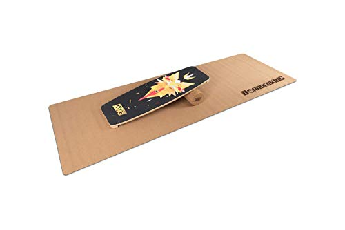 BoarderKING Indoorboard Limited Edition Wakeboard - Skateboard Surfboard Trickboard Balanceboard Balance Board (Wolf, 100 mm x 33 cm (Ø x L))