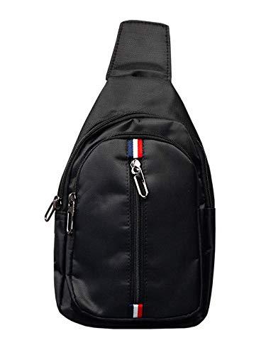 BOLF Herren Nierentasche Freizeittasche Umhängetasche Schulterrucksack Crossbag BRUNO ROSSI T49 Schwarz One Size [1S1]
