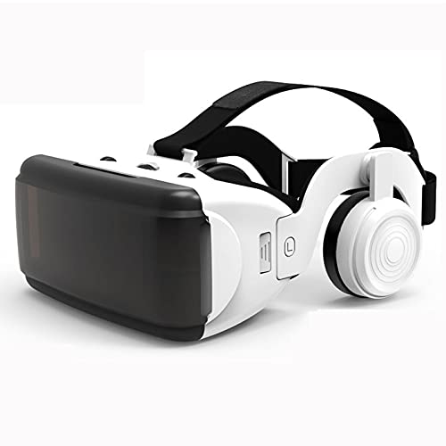 HTYQ Cuffie per Realtà Virtuale per Telefoni Cellulari, Occhiali VR 3D Adatti per Smartphone Android iOS da 4,7-6,5 Pollici, Occhiali per Realtà Virtuale 3D Rimovibili con Messa A Fuoco Indipendente