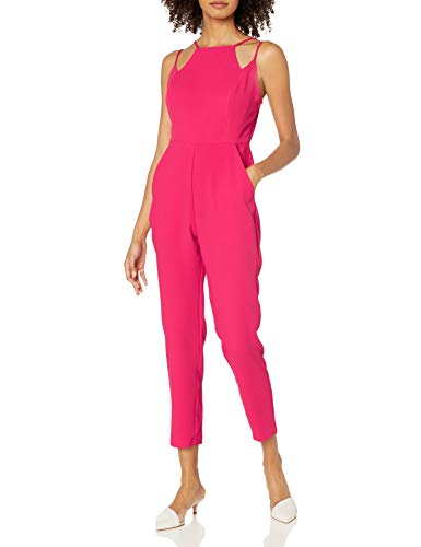 BCBGeneration Damen Abstract Neckline Jumpsuit, hot pink, 38