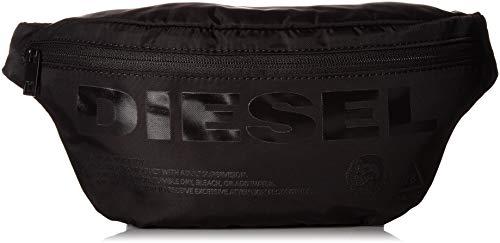 Diesel Herren Susegana F-suse Geldbörse, Schwarz (Black/Black Print), 8x18x34 centimeters