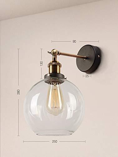Amadoierly Lampadaire de restaurant nordique rétro moderne vent minimaliste vent en fer forgé verre lampe lampe de chevet hôtel couloir, c