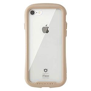 "iFace Reflection iPhone SE 2020 第2世代/8/7 ケース クリア 強化ガラス [ベージュ]"""