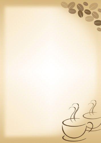 Briefpapier Motivpapier Kaffee Cafe 20 Blatt DIN A4 90 g/m² 5061