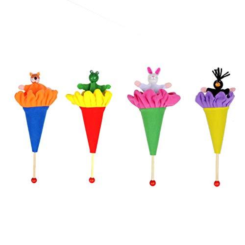 TOYANDONA 4 stücke Kinder Puppe Spielzeug Eltern-Kind interaktives Spielzeug Aufmerksamkeit fangen Spielzeug Kinder wandern und suchen Spielzeug (zufällige Stil)