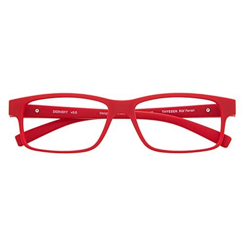 DIDINSKY Blaulichtfilter Brille für Damen und Herren. Blaufilter Brille mit stärke oder ohne sehstärke für Gaming oder Pc. Blendschutzgläser. Ferrari +3.0 – THYSSEN