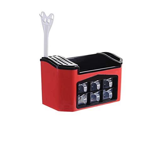 SMEJS Multifunktionales Küchenregal, Gewürzkastenbehälter, Geschirrregal, Küchenwerkzeugregal, Kunststoffküchen-Aufbewahrungsset