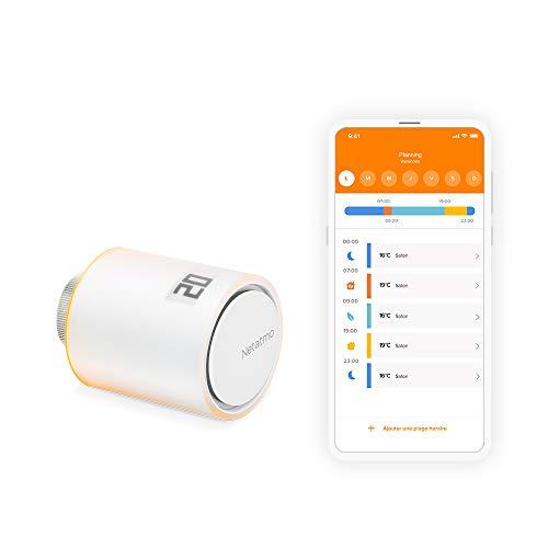 Netatmo Tête Thermostatique Connectée et Intelligente - Accessoire pour le Thermostat Intelligent...