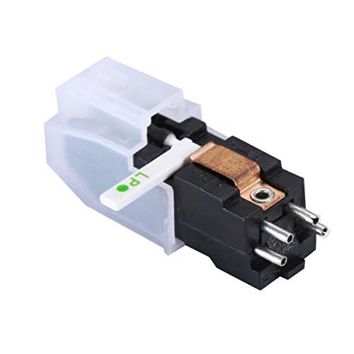 Exceart Platenspeler Vervangende Naald Dubbele Stijl Platenspeler Naald Accessoires Voor Phono Fonograaf Grammofoon (Wit)