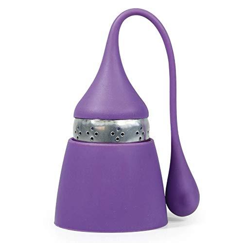 Space Home - Teesieb aus Edelstahl und Lebensmittel Silikon - Teekanne - Teefilter - Teekugel - Tea Infuser - Violett