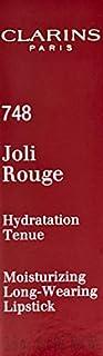 Clarins Joli Rouge Long Wearing Moisturizing Lipstick, 748 Delicious Pink, 3.5g