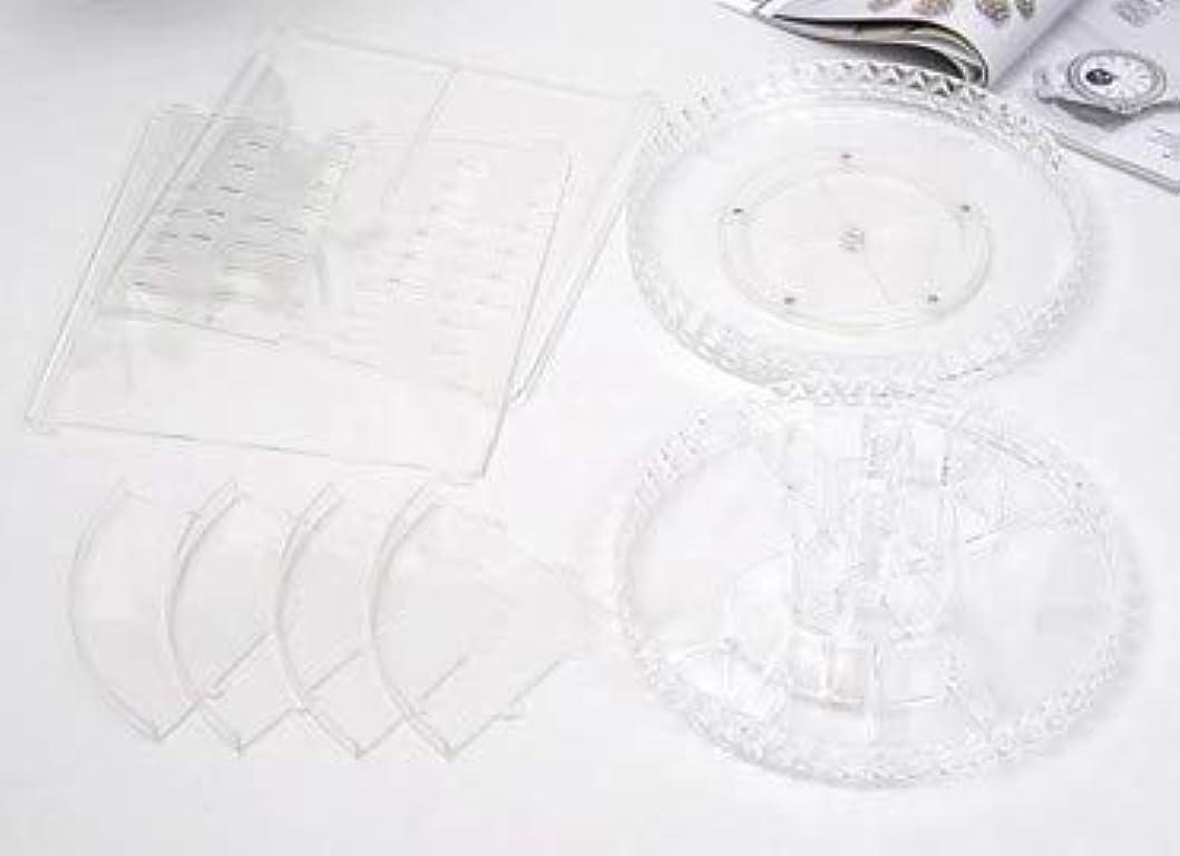冷蔵庫歯車インク回転化粧品収納ボックスダイヤモンド透明化粧品ケーススキンケア製品ディスプレイボックスデスクトップ収納ボックス