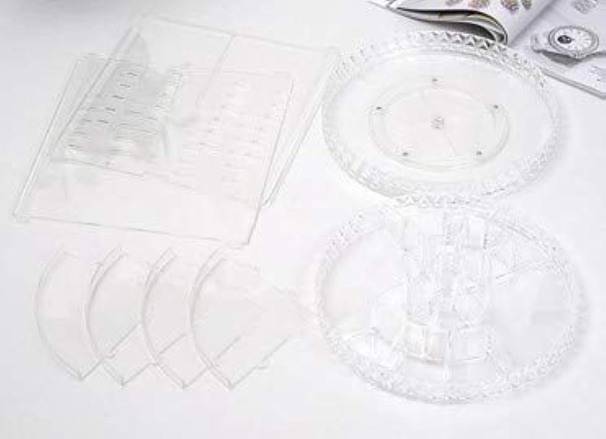 トレーニング簡略化する無視する回転化粧品収納ボックスダイヤモンド透明化粧品ケーススキンケア製品ディスプレイボックスデスクトップ収納ボックス