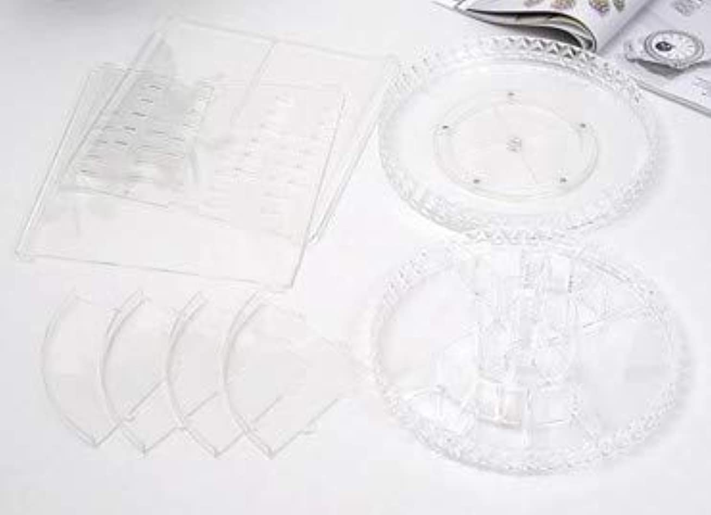 銀先行する統計的回転化粧品収納ボックスダイヤモンド透明化粧品ケーススキンケア製品ディスプレイボックスデスクトップ収納ボックス