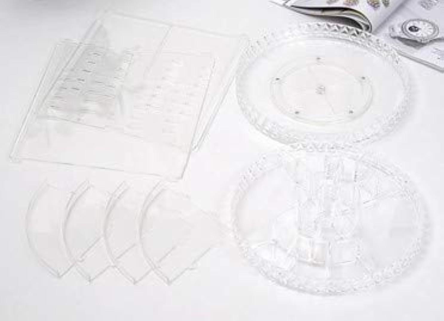 添加友だちジェット回転化粧品収納ボックスダイヤモンド透明化粧品ケーススキンケア製品ディスプレイボックスデスクトップ収納ボックス
