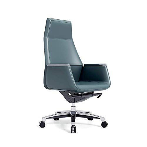 JF-XUAN Leather Swivel boss Chair, high Back Executive Chair, Durable and Height Adjustable, can Lift Office Chair, Comfortable Support at The Waist and Ergonomic Design Home Office Furniture