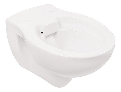 Wand-WC-Set Jonas | Spülrandlos | Inklusive WC-Sitz | Tiefspüler | Weiß | Spülrandlose Toilette | Spülrandloses Hänge-WC | Hängetoilette | Hygiene Plus | einfache Reinigung - 8