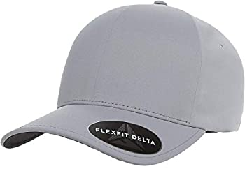 Flexfit Delta 180 Ballcap Seamless Lightweight Water Resistant Cap w/THP No Sweat Headliner Silver