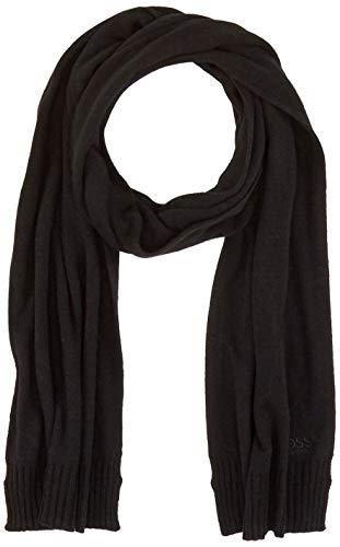BOSS Herren Scarf_Basic Schal, Schwarz (Black 001), One Size (Herstellergröße: ONESI)