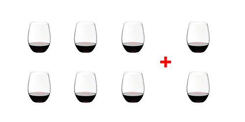 Set of 8 SYNCHKG038184 Riedel O Stemless Cabernet//Merlot Wine Glass