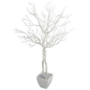 Leaf Manzanita – Árbol de Deseos Artificial (95 cm), Color Blanco