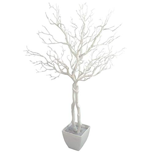 Leaf Manzanita - Árbol de Deseos Artificial (95 cm), Color Blanco