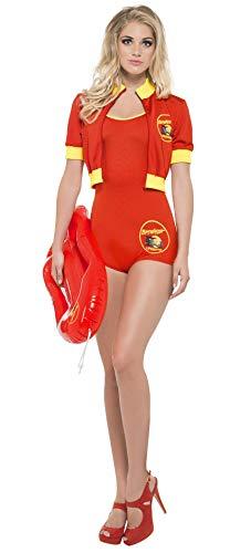 Smiffy's Smiffys-Licenciado Oficialmente Disfraz de vigilanta de la Playa...