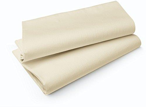 Duni Tischdecken aus Evolin Uni cream, 127 x 220 cm, 25 Stück
