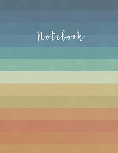 Notebook: Pretty Vintage-Rainbow Composition Notebook Back to School – Classic Beautiful Rainbow Workbook for Teens Kids Students Girls for School ... Writing Notes- Large College Ruled 110 Pages