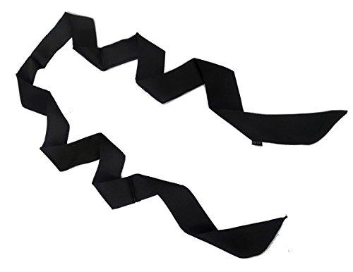 keland Elegante suave negro fino fino de la mujer bufanda BoyFriend corbata corbata gargantilla (negro)
