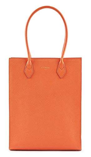 Fedon 1919 Emily Vertical Shopper Bag Wb1910071 Orange