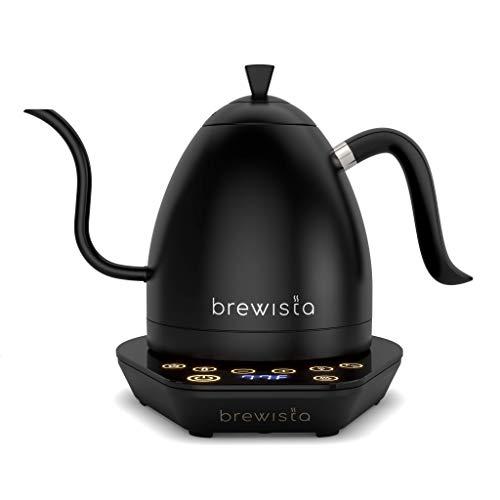 Brewista Artisan Pure Black | Elektrischer Wasserkocher | Schwanenhalsauslauf | Temperaturregelung | Slow Coffee Barista | 1,0 L
