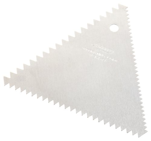 Ateco 1446 Decorating Comb, 3 Sided, 4 x 3.5