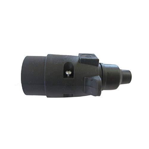 Conector enchufe eléctrico clavija 12 V 7 polos pvc, adaptador para remolque...
