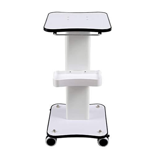 Rollwagen Beauty Aufbewahrungswagen für Instrumente Auf Rädern, Beauty-Gerätewagen, mit Griff, Hochleistungs-Styling-Sockel für Klinikkrankenhäuser, 35x38x69cm