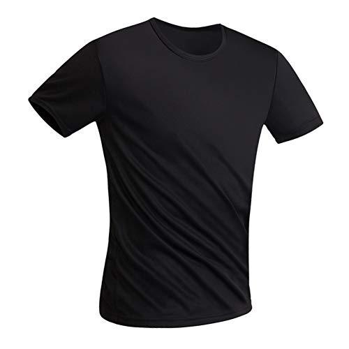 Gyratedream Schnelltrocknendes schmutzabweisendes wasserdichtes Männer-T-Shirt Hydrophobes schmutzabweisendes atmungsaktives Hemd Antifouling Schnelltrocknendes kurzärmliges T-Shirt Fitness Tops