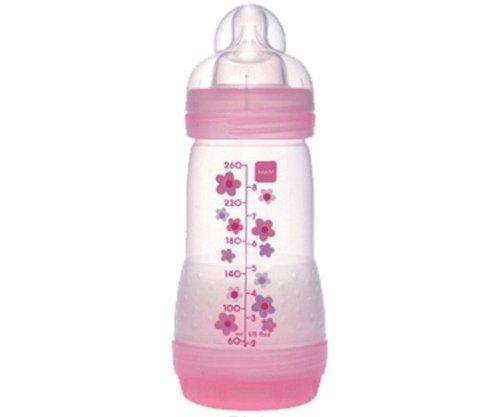 MAM–Biberón anticólicos (260ml 0–6meses flujo 2 rosa rosa