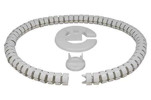 Conducto de cable redondo Kaba 35, longitud: 1240 mm, fabricado en Alemania, color blanco