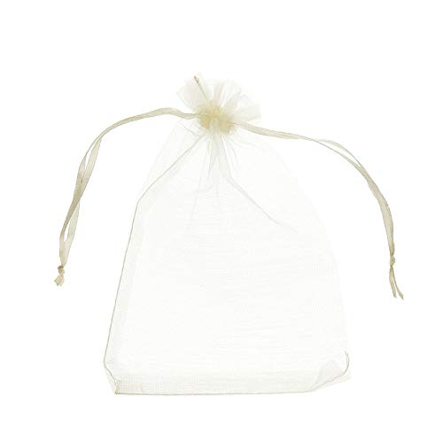 Volanic 100PCS 4X6 Inch Sheer Organza Bags with Drawstring for Candy Jewelry Party Wedding Favor Gift