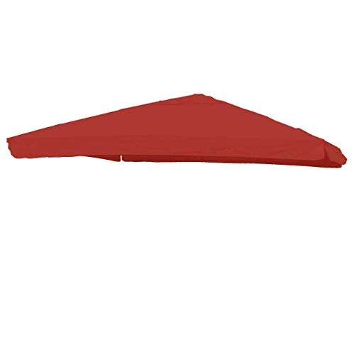 Mendler Bezug Ampelschirm HWC-A96 mit Flap, Sonnenschirmbezug Ersatzbezug, 3x3m (Ø4,24m) Polyester 3kg ~ rot