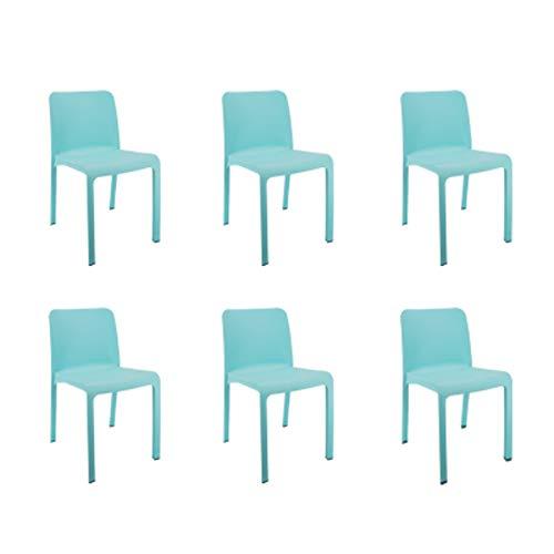 Shaf 55420 Grana   Set 6 Sillas Jardin de Color Azul   Fabricado en España con Materiales Reciclados, Unidades
