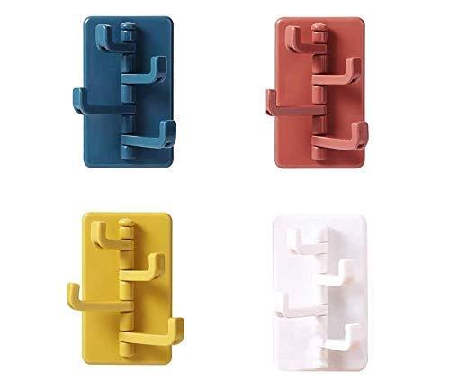 HOUSON 4 Set Wandhaken, Selbstklebend Handtuchhaken Schlüsselhaken Bademantelhaken Haken Küche Handtuchhalter Kleiderhaken Wandhaken Ohne Bohren