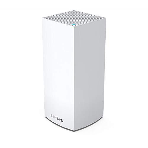 Linksys MX4200 Velop Tri-Band WiFi 6-Mesh-WLAN-System (AX4200 WLAN-Router/Extender für ein nahtloses WLAN von bis zu 260 m² und 3,5-mal höhere Geschwindigkeiten für über 40 Geräte, 1er-Pack, Weiß)