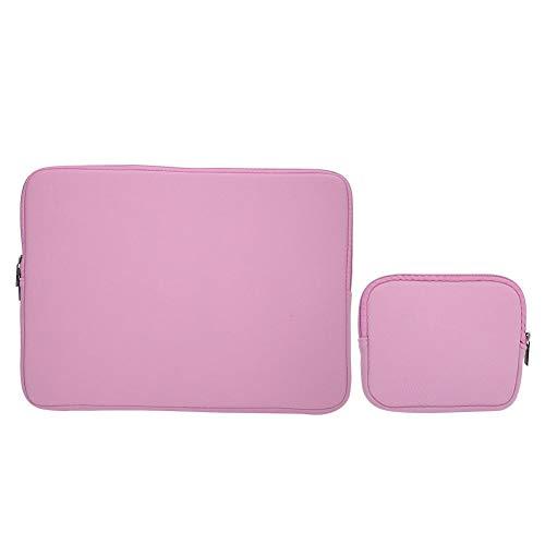 Laptoptas, effen laptoptas Duurzaam zakelijk Mode Notebook Handtas Tablet Beschermhoes(Roze 14 inch)