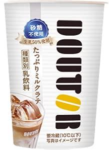 【冷蔵】DOUTOR ドトール たっぷりミルクラテ 砂糖不使用 270ml X10本