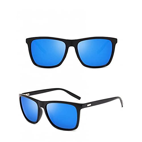 SXRAI Gafas de Sol Hombre/Mujer Cuadrado Espejo Conducción Gafas de Sol Hombre Gafas Uv400,C4