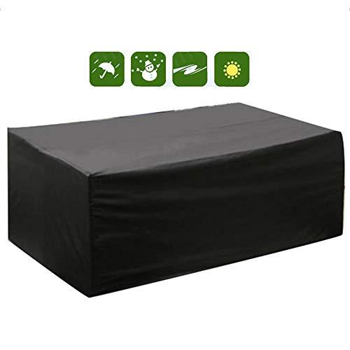 AMDHZ Meubles de Jardin Protecteur canapé extérieur Patio Table et chaises étanche Anti-poussière Four Seasons Noir Universal, 28 Tailles (Color : Noir, Size : 100X100X100cm)