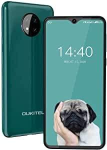 Moviles Baratos y Buenos,OUKITEL C19 Android 10 Móviles y Smartphones Libres Dual Sim 4G,Pantalla 6,49 Pulgadas 4000 mAh Telefonos Moviles Libres Baratos 16GB ROM 128GB SD Face ID,Verde